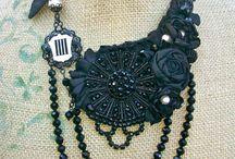 Inspiration Bijoux / Travail des perles et du tissu