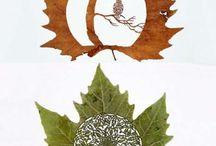 Arte con le foglie