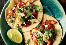 Cinco de Mayo Recipes / Celebrate May 5th with F&W's fantastic party ideas and  easy recipes for a crowd, including smoky bacon guacamole  and mango margaritas. Plus, delicious Mexican recipes for  Cinco de Mayo like red chile-chicken enchiladas and carne asada with black beans.