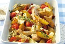 Griekseovenschotel met kip en feta kaas
