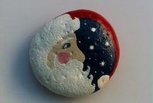 Santa painted