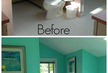 Bathroom painting remodel