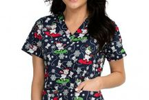 Winter Scrubs 2016 / Winter print scrubs