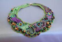 Daniela Čaradská / shibori bead embroidery výroba šitých korálkových šperkov  jewerley hand made