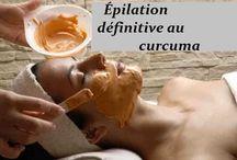 masque épilation curcuma
