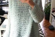 sweter delgado a crochet