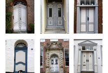 Deense deuren / Collages met Deense deuren... Alle soorten en maten en kleuren..
