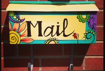 Painted mailboxes