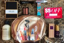 Macy's Beauty Box / Check out my blog reviews of the monthly cosmetic subscription box from Macy's. Click on the photos and they will take you to the matching blog post.