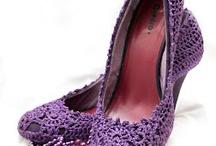 Háčkované topánky