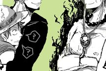 Ace Law and Luffy