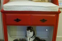 DIY pet feeding station