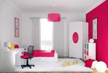 ELISSA ROSSA -kolekcja mebli dla dzieci / Czerwień to kolor pełen energii, symbolizujący piękno i siłę. Mocny akcent na białych meblach to z jednej strony minimalizm, a z drugiej możliwość wprowadzenia do pokoju Dziecka ulubionego koloru.