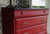 Red Painted Furniture / Painting Red Furniture