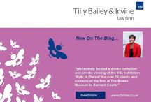 New on the blog... / News from Tilly Bailey & Irvine