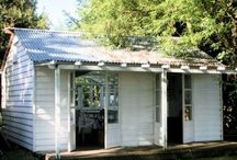 Rustic cabin for cow paddock