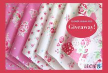 "Flower Sugar 2015 Giveaway! / SPRING GIVEAWAY from Lecien!  Two winners will receive a new Flower Sugar 2015 Promo Pack (8"" x 8"") that has all color ranges shown on pictures. Giveaway ends on Tuesday, April 7 at 5:00pm PST and this Giveaway is for everyone worldwide. See more on Lecien Fabrics Facebook Page - https://www.facebook.com/lecienfabrics"