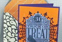 Halloween Theme / Handmade cards, pages and invitations just for Hallowe'en
