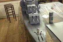 Shipmodel WWII Destroyer