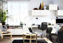 salon z miejscem do pracy
