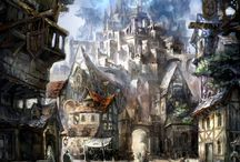human medieval city inspiration