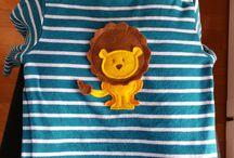 T-shirt decorate / T-shirt decorate con pannolenci, per neonati e bimbi