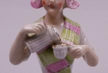 Demi figurine chocolatière et assimilée