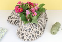 Garden Plant Pots indoor or outdoor use. / Beautify your garden with pots and planters that offer French vintage style. We have a colourful range including metal, wooden and wicker planters and pots that can be used as herb pots, windowsill planters and patio decoration.