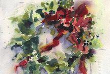 Watercolor/acrylic/oilpaint