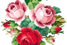 Cross stitches - roses