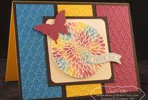 (AL) Cards ~ Square & Circle Layout / by Glenda Jae