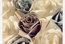 Fleurs en papier et tissu de l'effet merry'd / Des fleurs en papier ou en tissu pour des occasions particulières: mariage, décoration de table, ou tout simplement pour offrir.