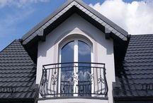 Domy jednorodzinne - Profile na balkony, tarasy półokrągłe / Realizacje z wykorzystaniem naszych profili balkonowych bo balkonów półokrągłych - Profile Perfecta PK 47 AL flex ,  kolor RAL 7016