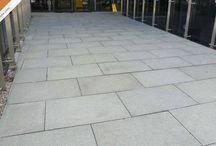 Granite Paving / Granite paved patios laid with Caledonian Stone granite slab products