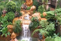 Whimsical Water Features / Beautiful water and waterfalls!