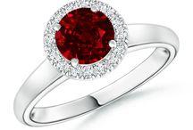 Classic Diamond Halo Ruby Ring