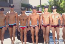 Andrew Christian Police Car Wash / Behind the scenes images from the #AndrewChristian Police Car Wash #video.  Watch the video > http://www.vocla.com/blog/andrew-christian-police-car-wash-video/ #underwearvideo #underwearmen #teamgay #gayboys #underwearmodels