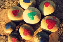 Stone hearts / CORAZONes DE PIEDRA / Handcrafted stone art