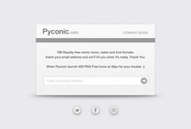 Pyconic - Coming Soon / Royalty-free vector icons, raster and font formats.