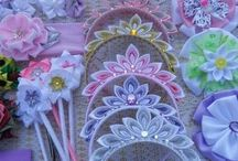 Tiaras  decoradas feitas à mão
