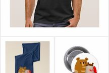 Cute Cartoon Bears Collection of T-Shirts and Merchandise by Cheerful Madness!! at Zazzle