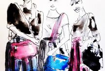 Fashion Illustrations by our Donna Darling, Darling. / Fashion Illustration by Donna Jean Baxter