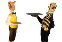 Mayordomos de figuras de Papelmache / ¿Qué mejor que un buen #mayordomo para dar la bienvenida a tus amigos o clientes?
