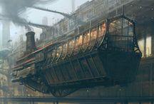 Steampunk place