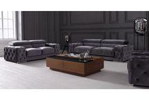 Modern Grey Fabric Sofa Collection Florida