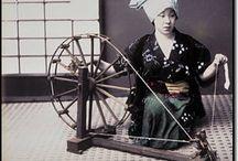 Japan textile / photo history of  Japanese textile & fabrics