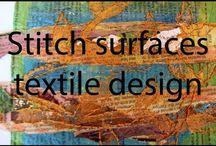 Stitched Surfaces textile design