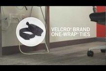 Velcro / Las cintas y bridas de velcro ofrecen un concepto cómodo e ingenioso para simplificar la forma de organizar los cables en hogares y oficinas, y de cualquier instalación de audio y/o vídeo profesional.