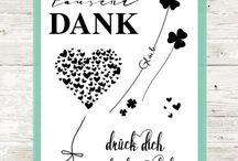 """Nur für Dich / Glückskleeblätter, ein Herzballon und ein """"vielen tausend Dank"""" Was braucht man mehr um glücklich zu sein <3"""
