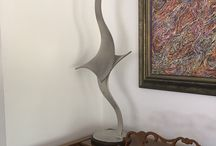 Abstract Table Top Sculptures / Fabulous interior stainless steel sculptures for your home and office.